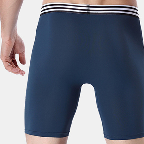 Elastic Ice Silk Seamless Soft Breathable Sport Boxer Briefs