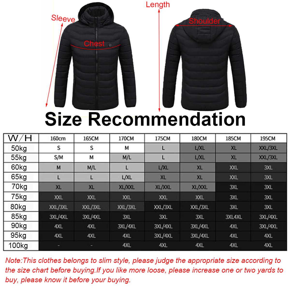 Electric Heating USB Abdomen Back Intelligent Winter Hooded Heated Coat Jacket Temperature Control