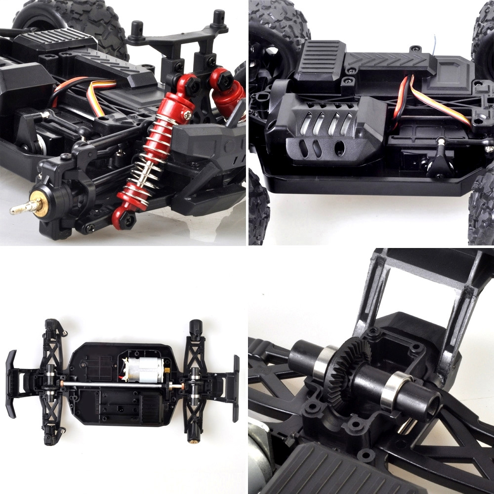HS 18322 1/18 2.4G 4WD 36km/h RC Car Model Proportional Control Big Foot Monster Truck RTR Vehicle - Photo: 5