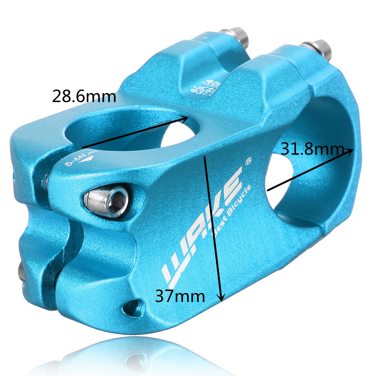 WAKE Cycling Bicycle Aluminum Alloy Road MTB Mountain Bike Handlebar Stem 31.8mm