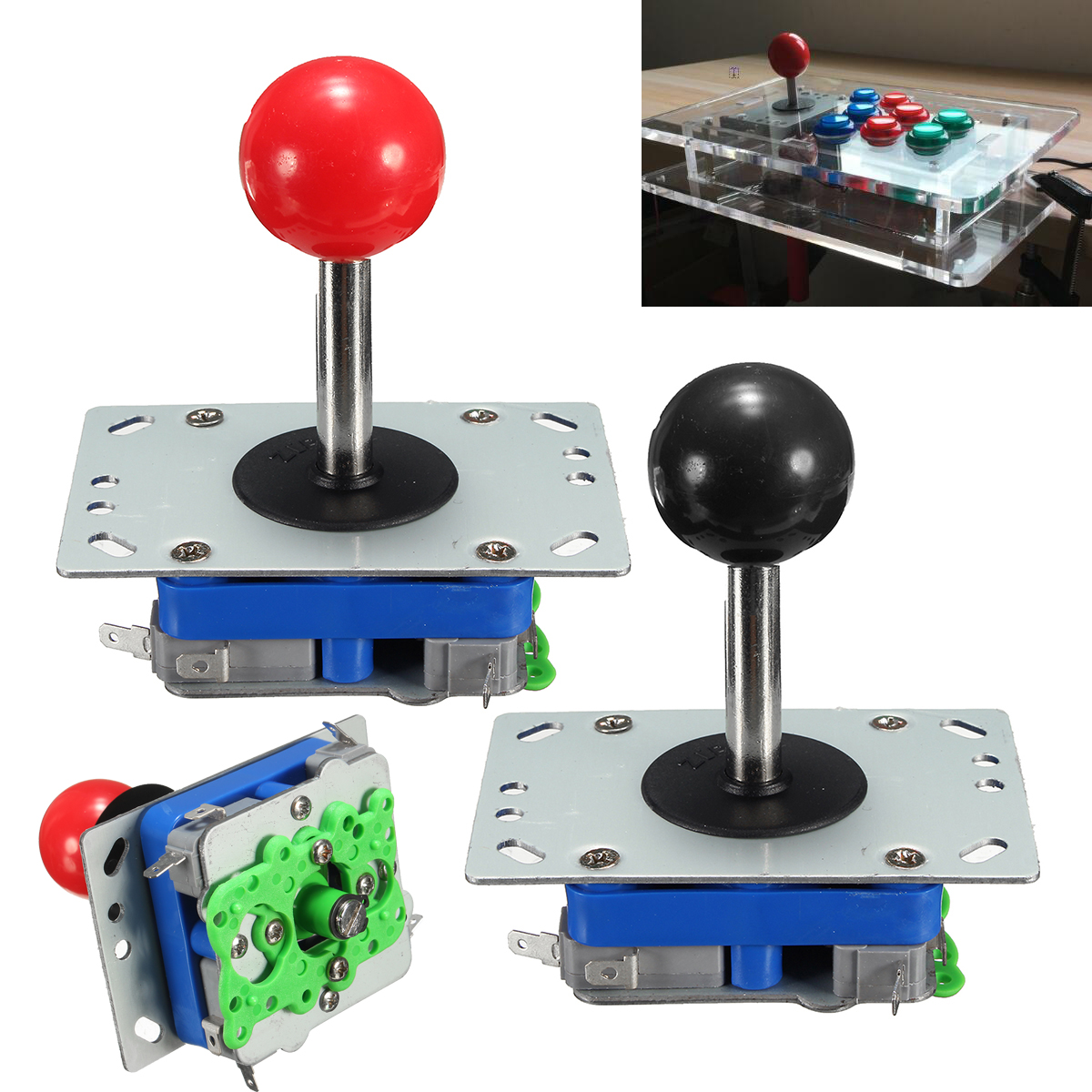 Classic 4/8 way Arcade Game Joystick Ball Zippy Joy Stick Long Handle