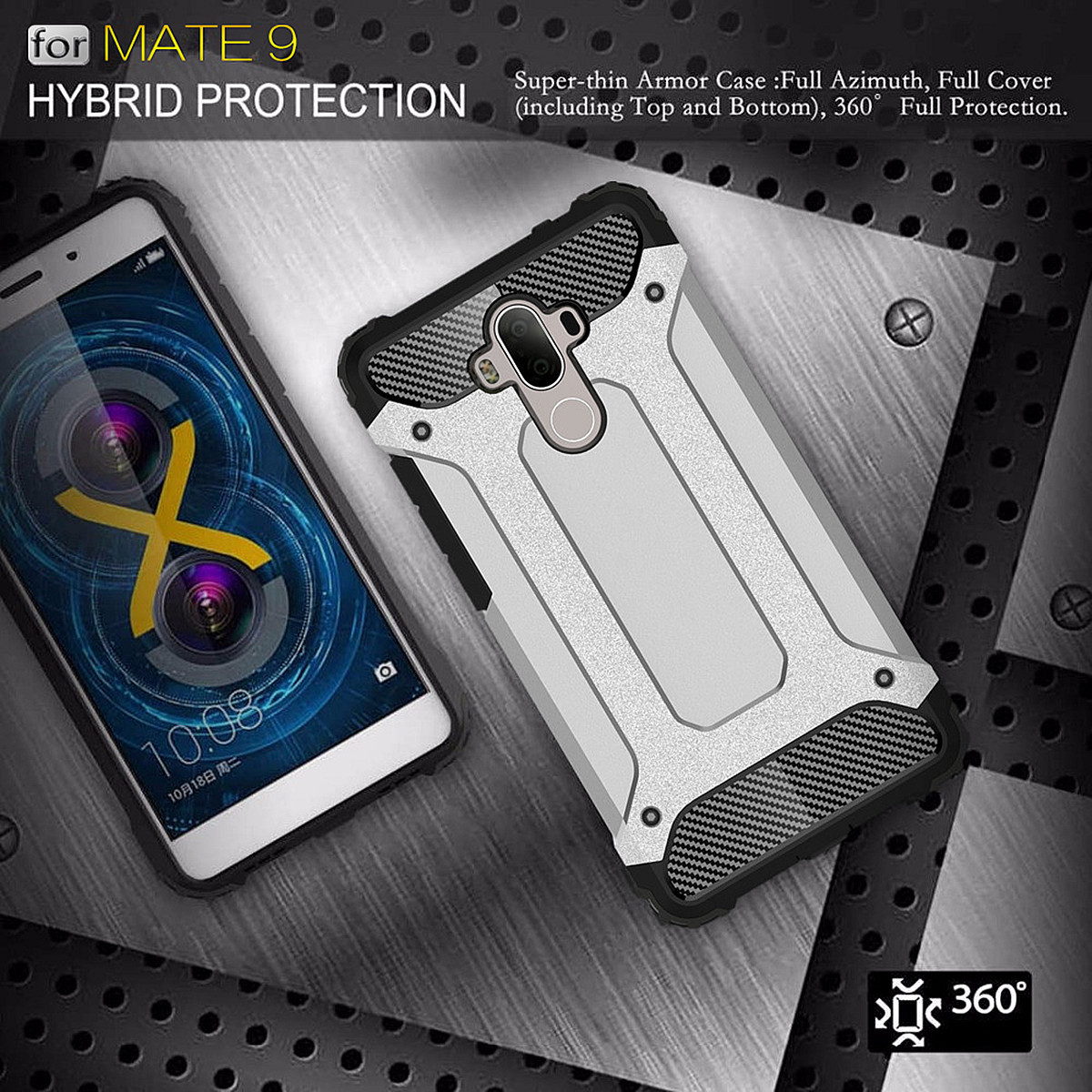 Hybrid Shockproof PC&TPU Rugged Protective Cover Case For Huawei Mate 9