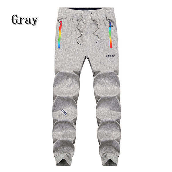 Mens Fashion Sports Trousers Thin Cotton Casual Slim Running Sweatpants