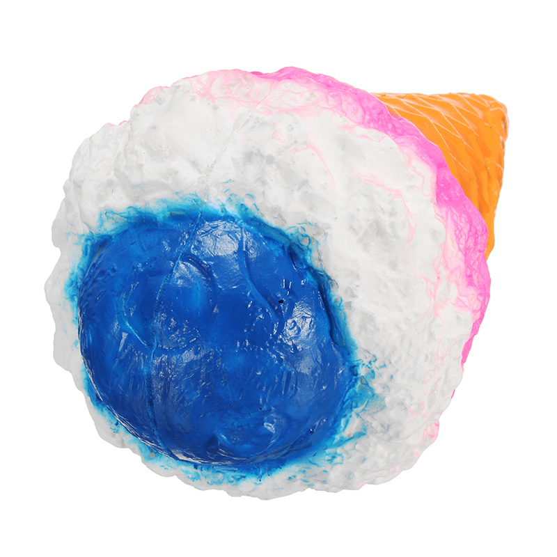 Jumbo Colossal Squishy Rainbow Ice Cream Scented Super Slow Rising Food Kid Toy