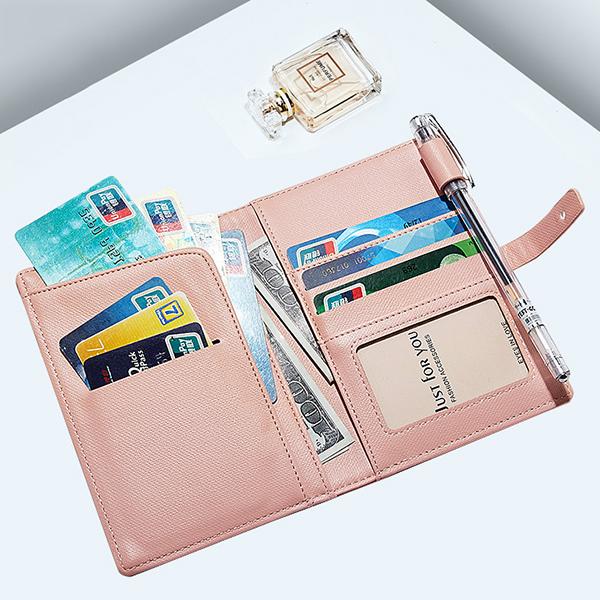 Women Travel Passport Storage Wallet