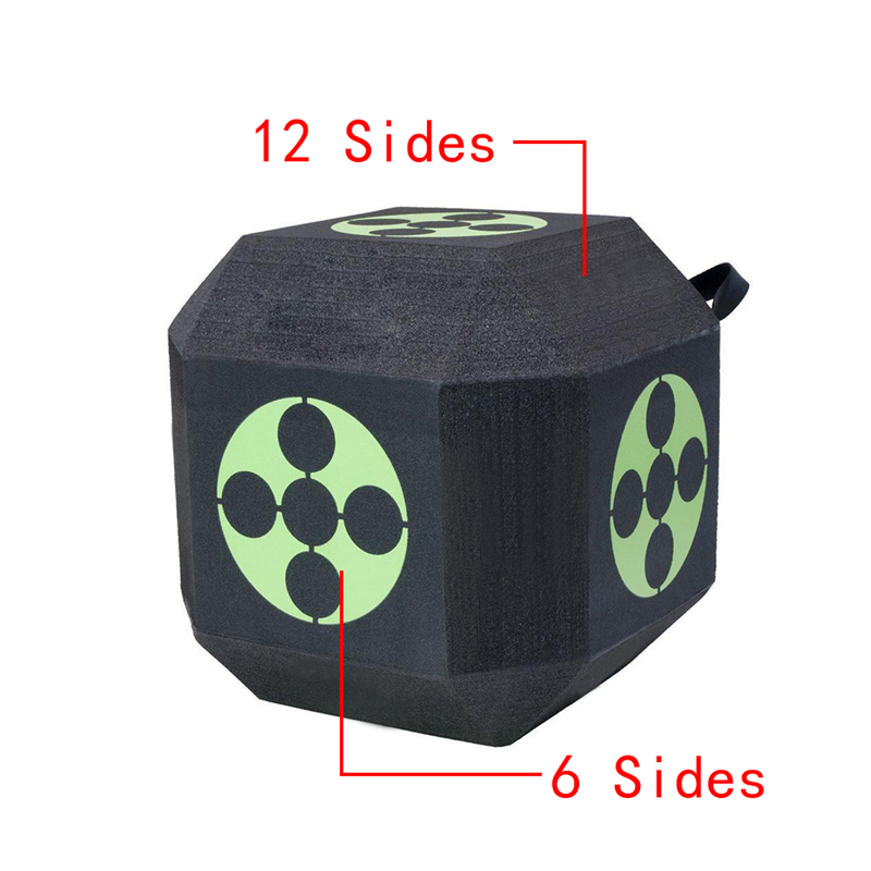 Archery Target 3D Dice for Hunting Shooting Bow Arrow Target Training Practice Sport Games with XPE Material Archery Accessory