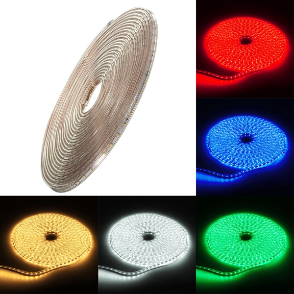 20M 70W Waterproof IP67 SMD 3528 1200 LED Strip Rope Light Christmas Party Outdoor AC 220V