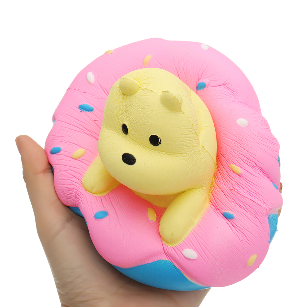 Giggle Donut Bear Squishy 13.5*6*15CM Slow Rising With Packaging Collection Gift Soft Toy
