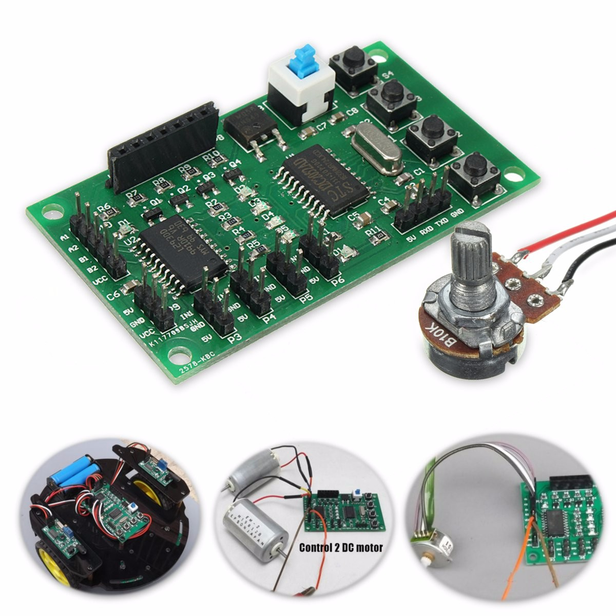 Programmable 2 4 Phase 5 Wire Stepper Motor Driver Control Board A B C Logic Diagram For Robot