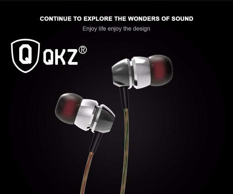 QKZ X8 Stereo Bass Earphone Double Moding Metal In-ear HeadSet