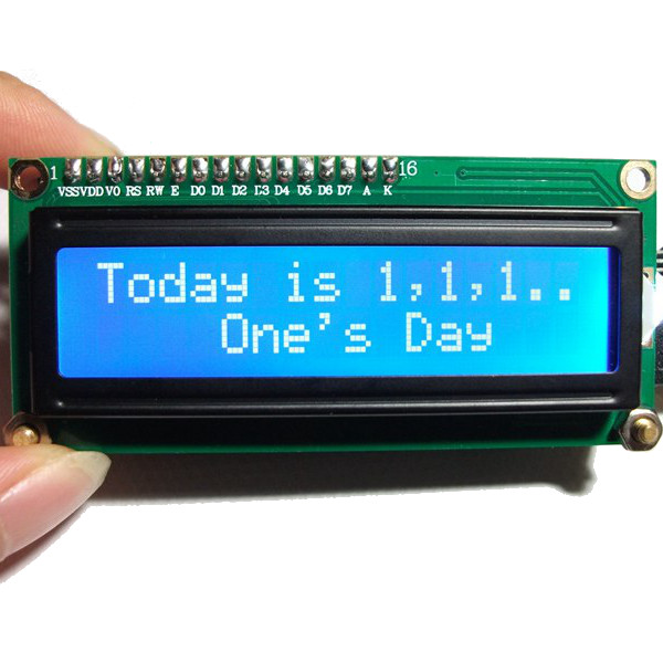 Geekcreit® DIY Mini 1602 Fantasy Calendar LCD Electronic Clock Kit