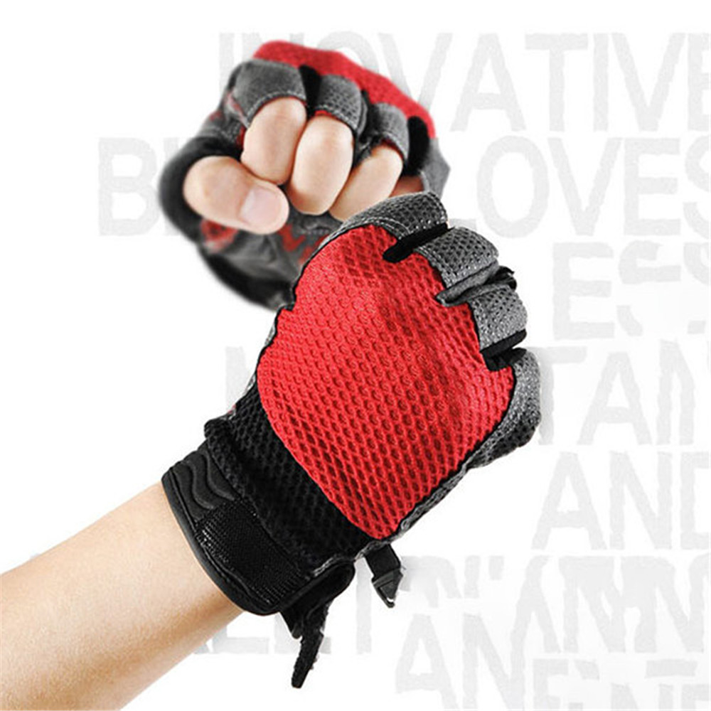 Men Thin Breathable Outdoor Half-finger Gloves