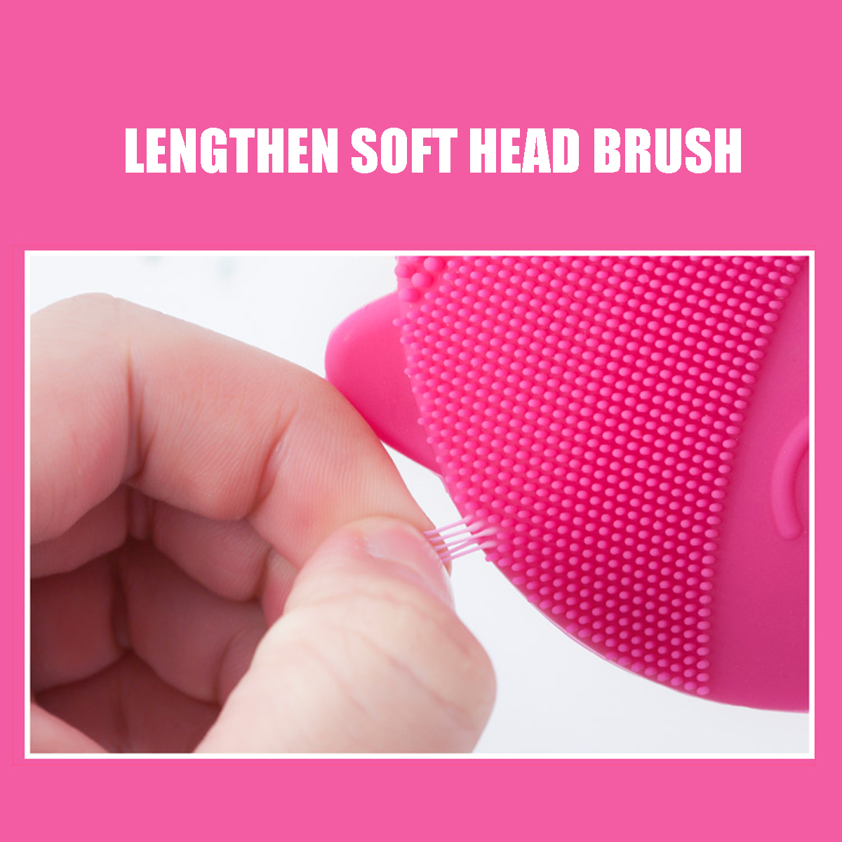 Silicone Brush Face Skin Massage Tool