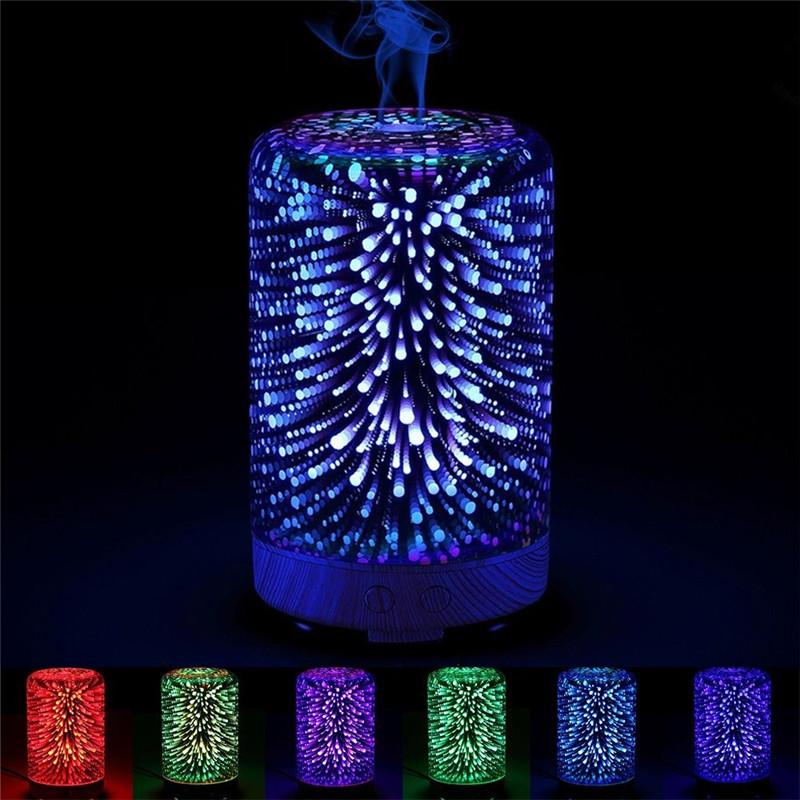 3D Glass Light Essential Oil Aroma Diffuser Ultrasonic