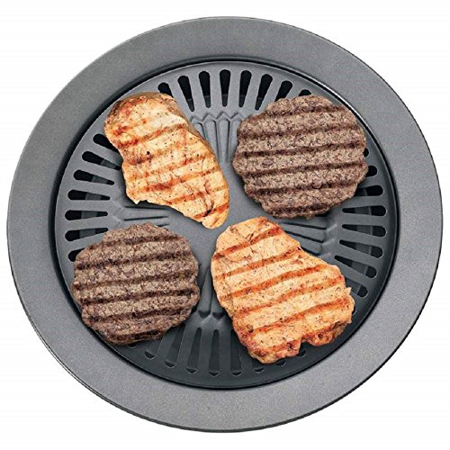 Smokeless Stovetop BBQ Grill Pan Stainless steel Card Type Non-stick Cooking Pan Round Shape Ceramic Pan
