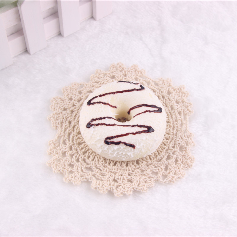 10PCS 7CM Random Color Squishy Coconut Cream Donuts Fridge Magnet Cream Scented