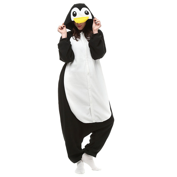 Warm Lovely Polar Fleece Animal One Piece Costume Sleepwear