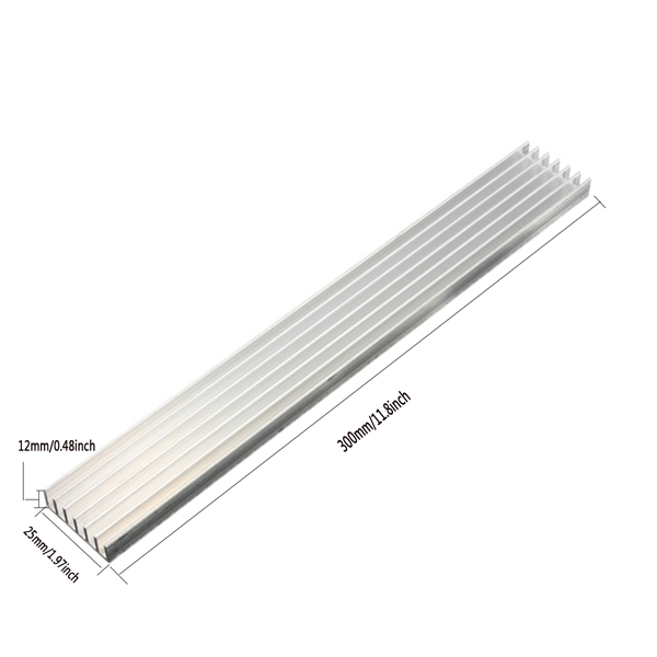 1W/3W/5W High Power LED Heat Sink LED Cooling for Aluminum Plate 30CMx25MMx12MM