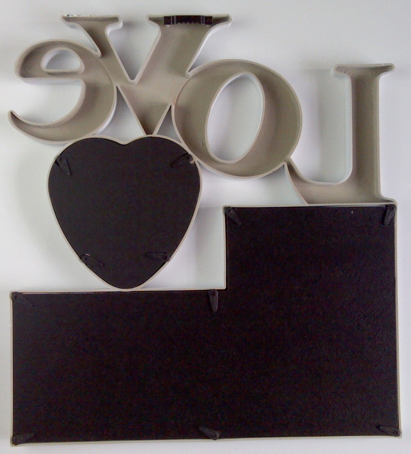 37X34CM Creative Combination Plastic Love Frame Family Home DIY Photos Wall Hanging Gift