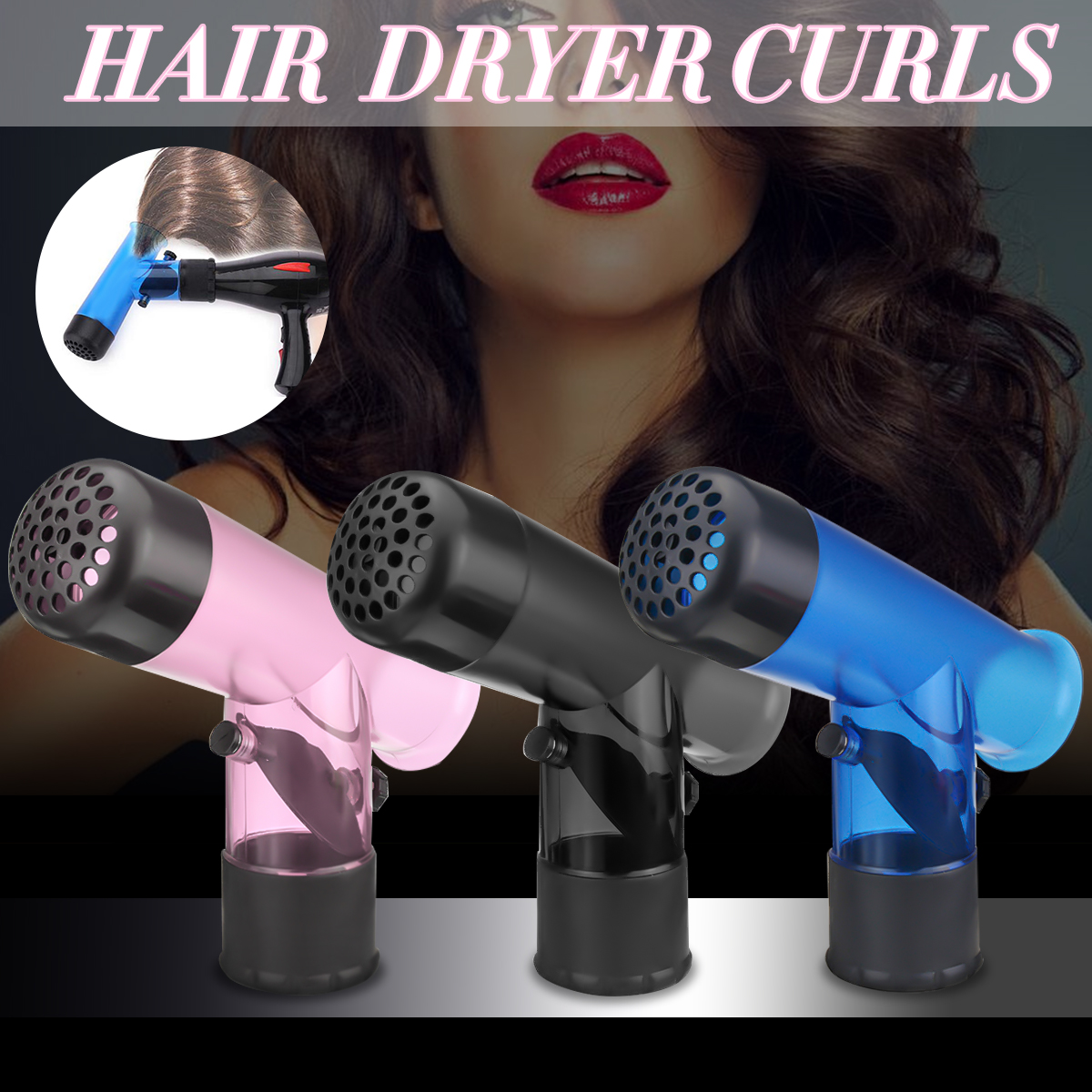 Hairdryer Curl Diffuser Magic Tube Styling Hair Tools