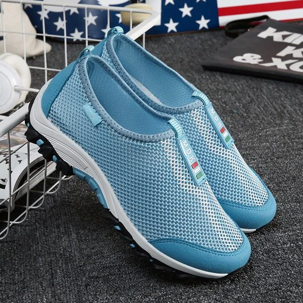 Women Breathable Mesh Sport Shoes Slip-on Light Weight Athletic Shoes