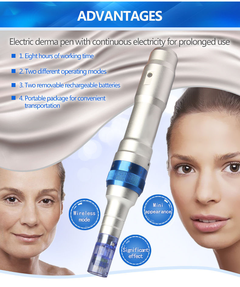 A6-C Electric Pen Auto Micro Needle Skin Face Care Beauty Machine
