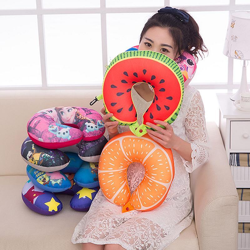 Fruit Cartoon Memory Foam Car Air Travel U Shaped Pillow Neck Rest Cushion
