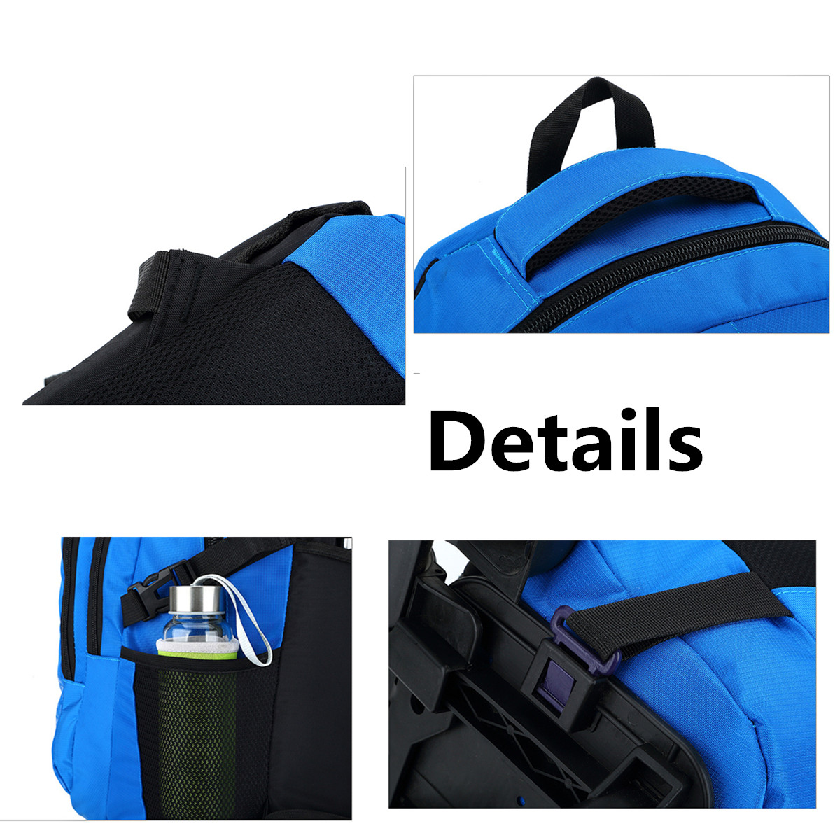 35L Trolley School Bag Camping Travel Luggage Backpack Children Kids Student Bags With Wheels