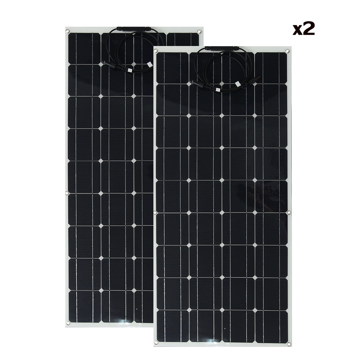 2PCS Elfeland SP-39 12V 120W 1180*540mm Semi-flexible Solar City Panel With 1.5m Cable