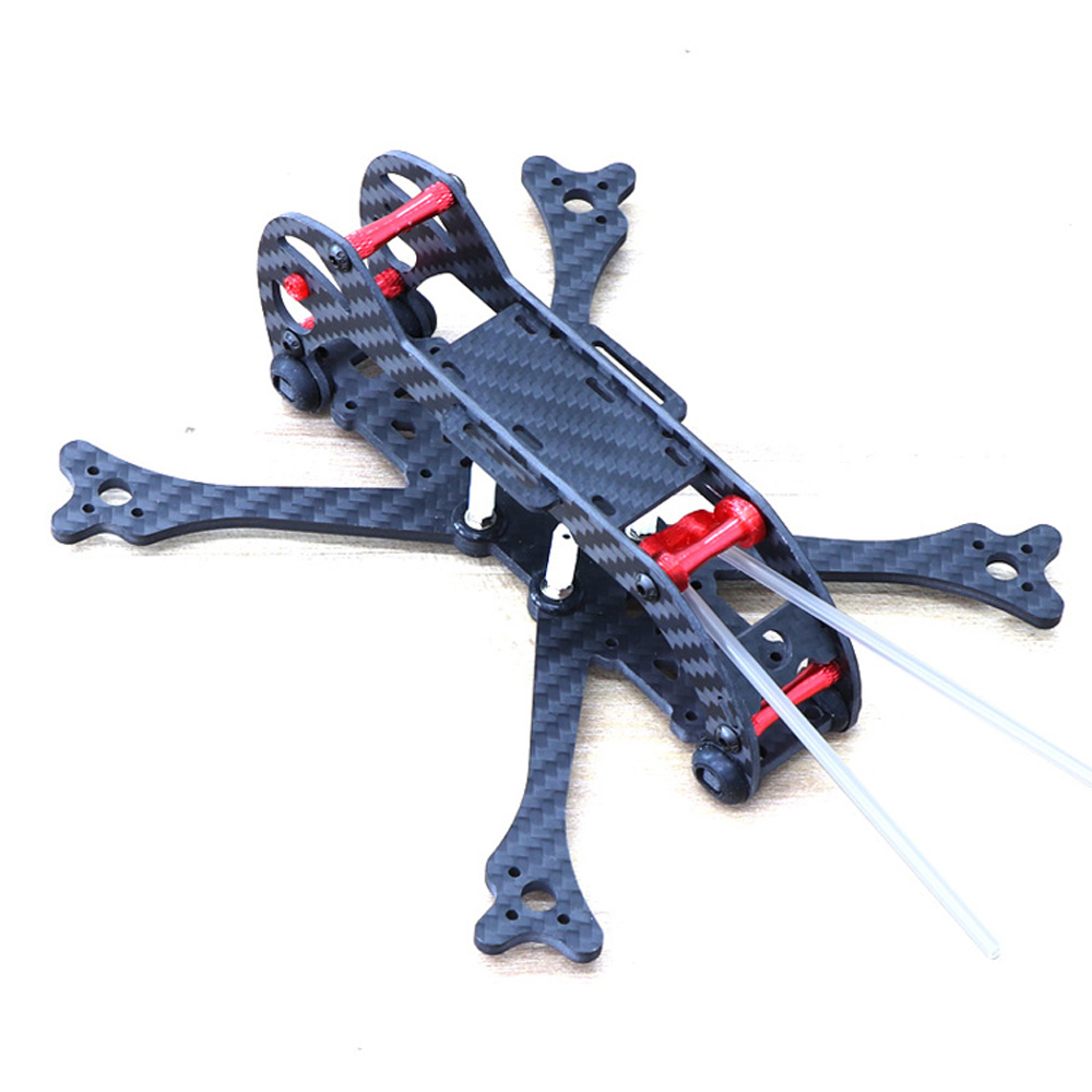 HSKRC 3 Inch 155mm Wheelbase 3mm Arm Carbon Fiber FPV Racing Frame Kit with Protection Ring