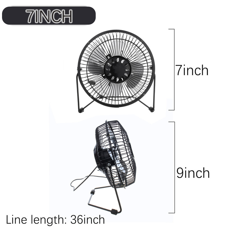 Portable 7 Inch Mini USB Fan Super Mute Laptop PC Cooler Cooling Desktop Fans