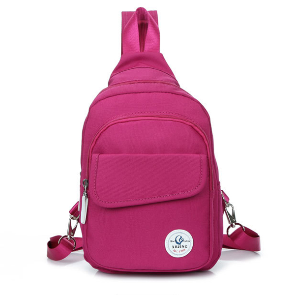 Multifunctional Women Outdooors Canvas Casual Backpack Crossboby Bag