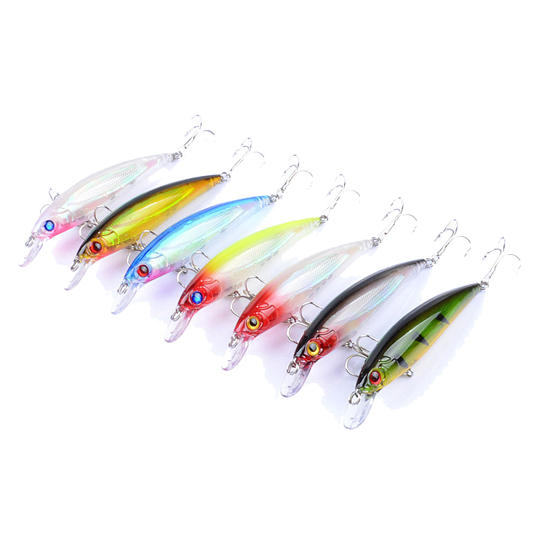 ZANLURE 7pcs/set 11cm 13.4g Fishing Lure 0.6-1.8m Depth