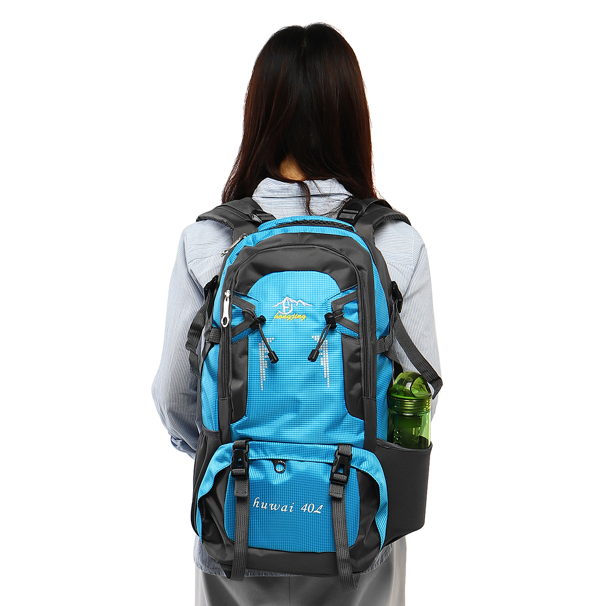 40L Unisex Nylon Outdoor Backpack Hiking Camping Waterproof Travel Bag