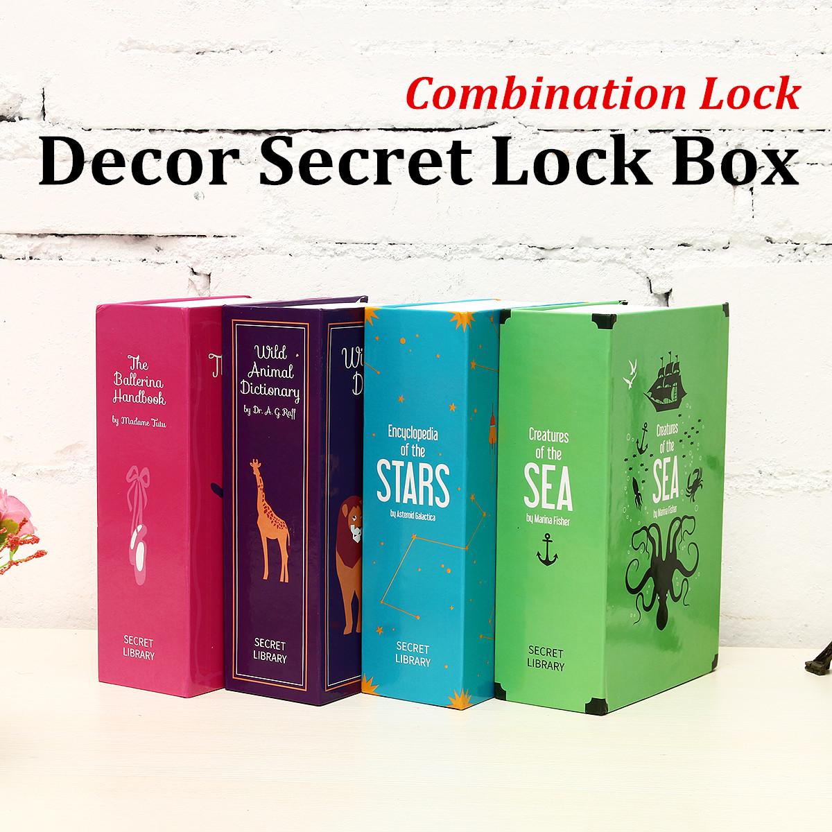 Security Box Dictionary Book Safe Cash Key Storage Combination Lock Secret Case Hidden Home Craft