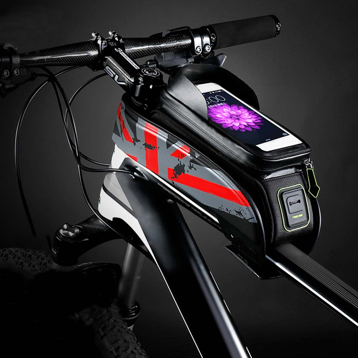 BIKIGHT 5.8/6in Universal Waterproof Touch Screen Bike Holder Cycling Bicycle Frame Front Tube Phone Bag