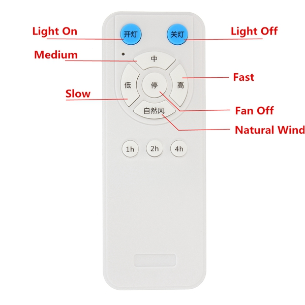 175-265V Fan Lamp Controller Ceiling Fan Remote Control And Receiver Kit Remote Control Distance 60m