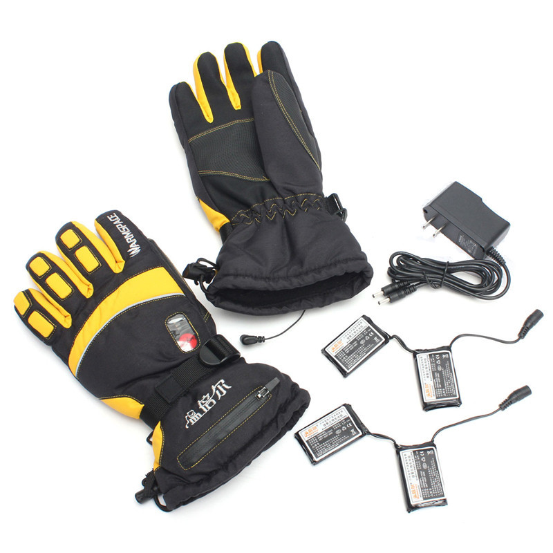 Waterproof Lithium Battery Duplex Heated Gloves Rechargeable Self Heating Warmer