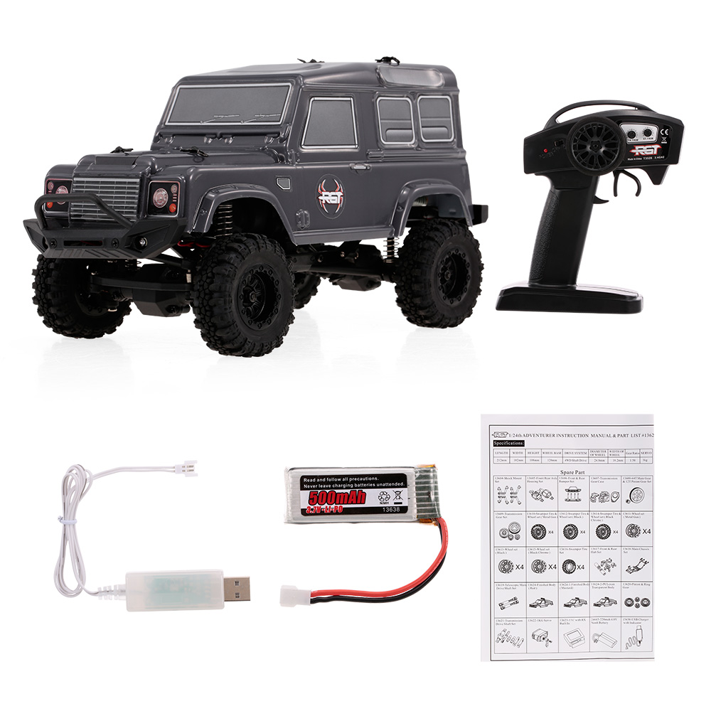 136240 1/24 2.4G RC Car 4WD 15KM/H Vehicle RC Rock Crawler Off-road Buggy RC Car Toys