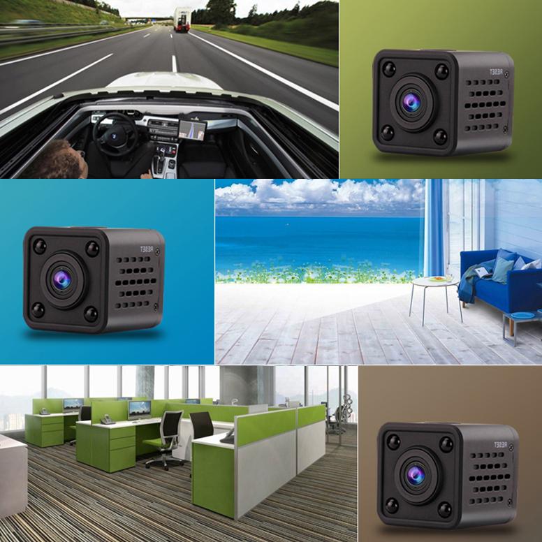 XANES HDQ9 Mini Wifi Camera Vlog Camera for Youtube Recording FPV Camera No Light Night Vision Remote Alarm Sport DV Wearable Body Camera Drive Recorder