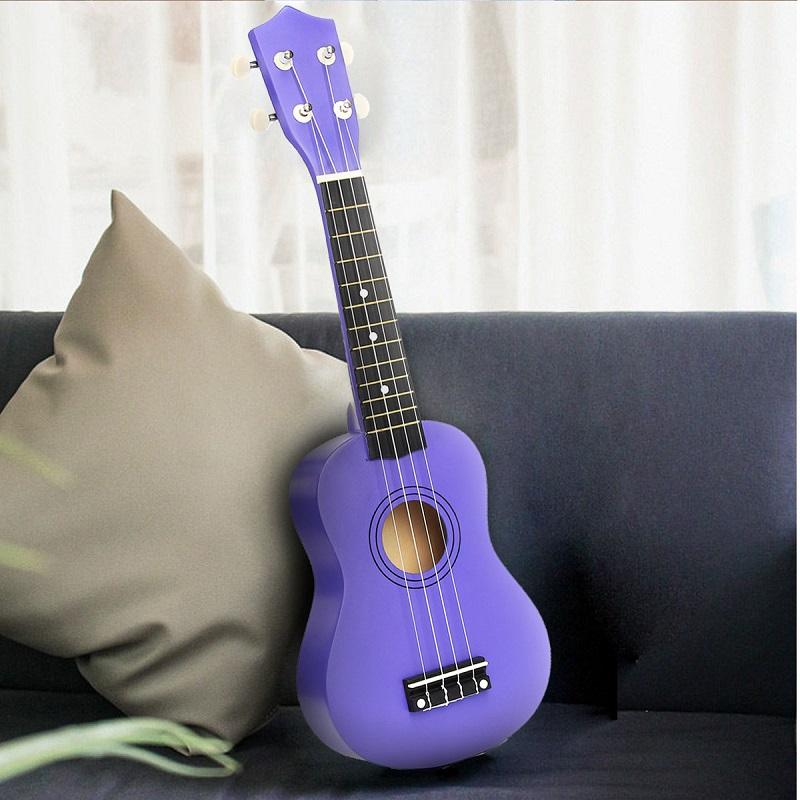 21 Inch Economic Soprano Ukulele Uke Musical Instrument With Gig bag Strings Tuner Purple