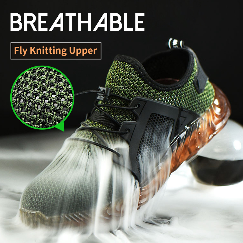 Hiking Steel Toe Work Safety Shoes Mesh Anti-slip shoes