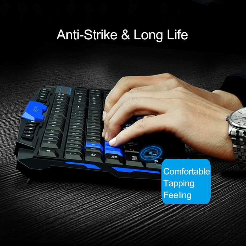 Wireless 2.4G Gaming Keyboard And Mouse With Mouse Pad Set Combo Ergonomic Design
