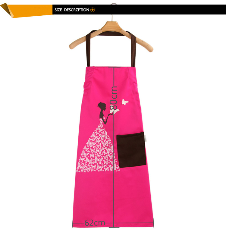 Creative Anti-fouling Prevent Dirty Household Kitchen Sleeveless Polyester Butterfly Girl Apron