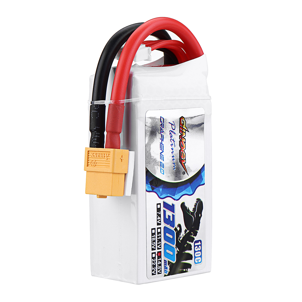 DINOGY ULTRA GRAPHENE 2.0 14.8V 1300mAh 130C 4S Lipo Battery XT60 Plug for FPV RC Drone - Photo: 9