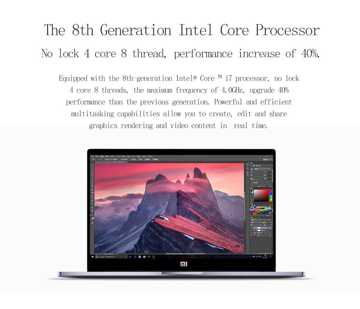 Original Xiaomi Pro Notebook 15.6 Inch i7-8550U 8GB/256GB NVIDIA GeForce MX150 Fingerprint Sensor Deep Gray