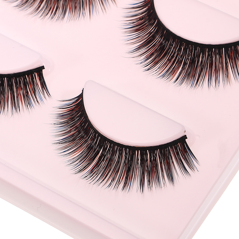 Mermaid 3D Colorful False Eyelashes Set