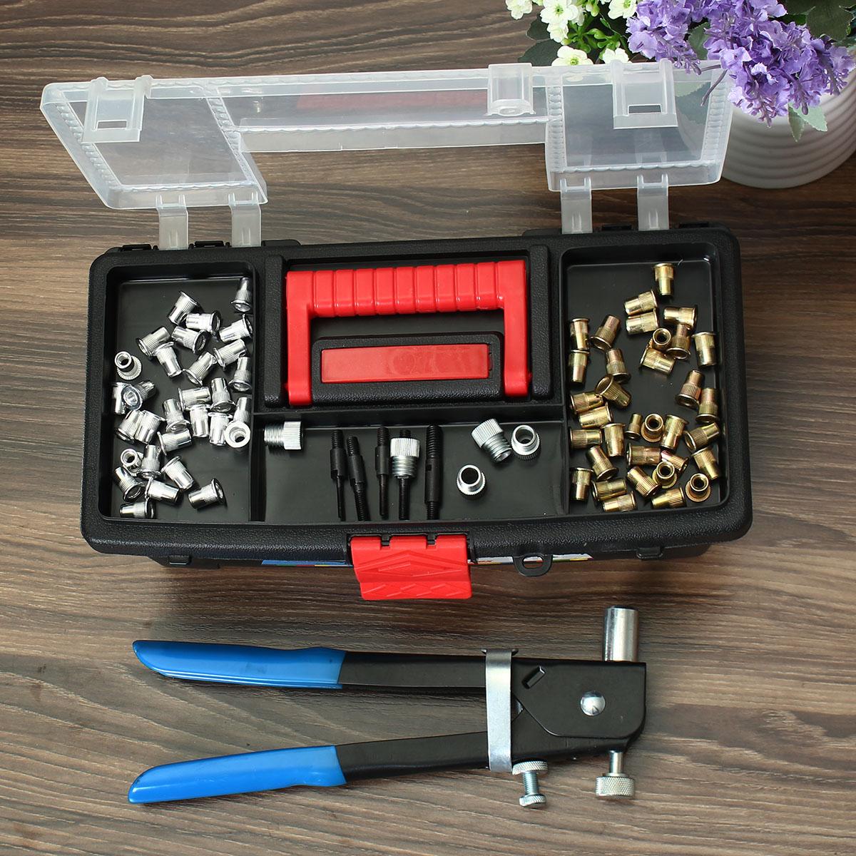 1600Pcs M3 M4 M5 M6 M8 Blind Rivet Nut Rivnut Nutsert Insert Tool Box Kit