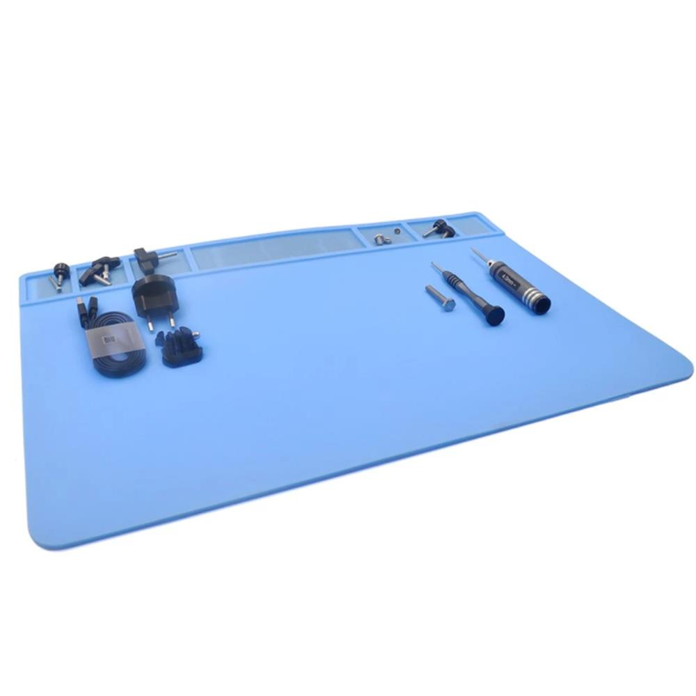 STARTRC Heat Resistant Silicone Rubber Repair Tool Mat Blue - Photo: 4