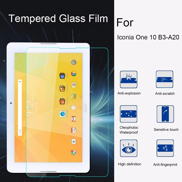 Tempered Glass Screen Protector for Acer Iconia One 10 B3 A20 Tablet